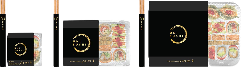 Emballages Uni Sushi