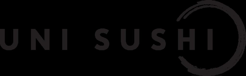 Logo Uni Sushi version longue or sur fond transparent