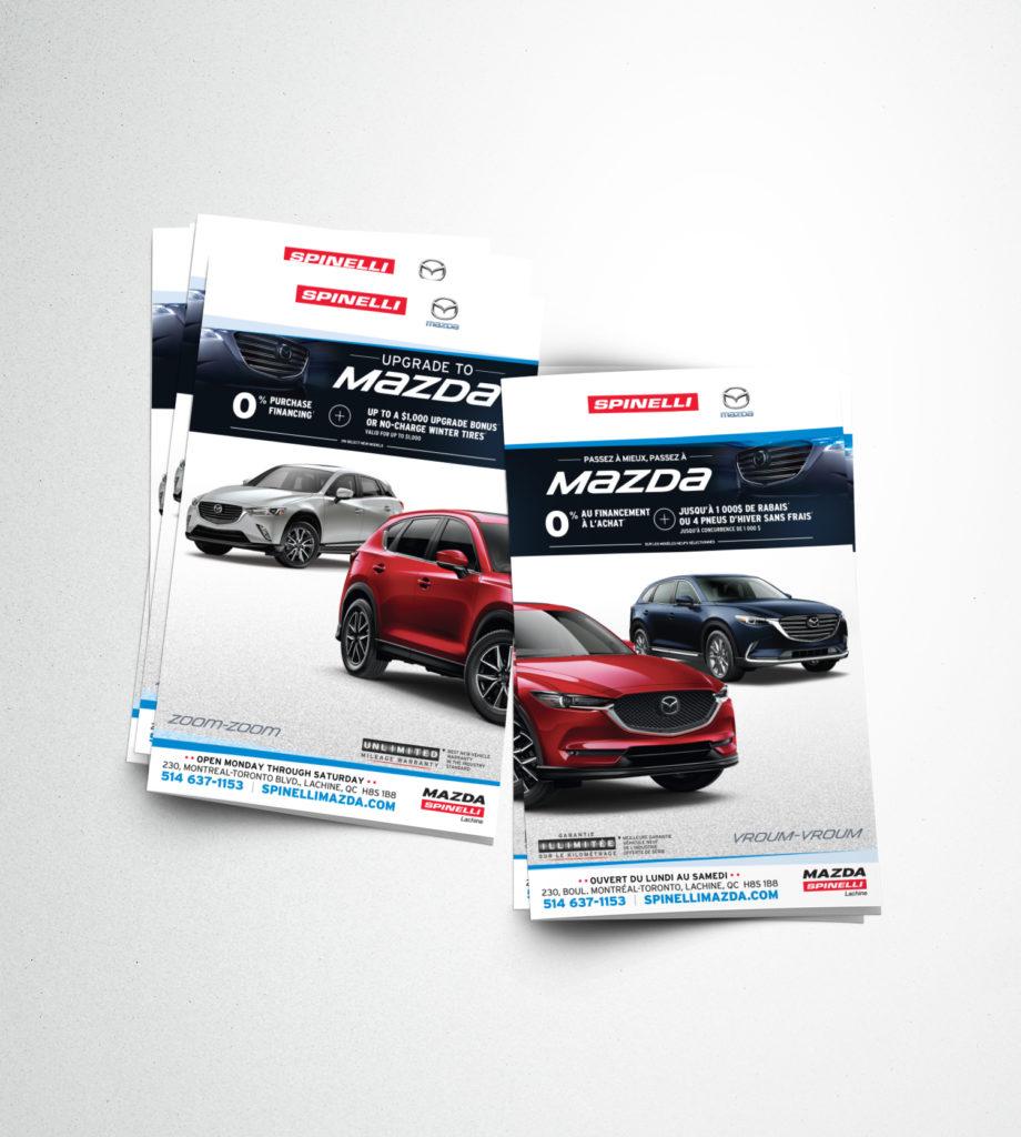 Dépliant pour publisac pour Spinelli Mazda
