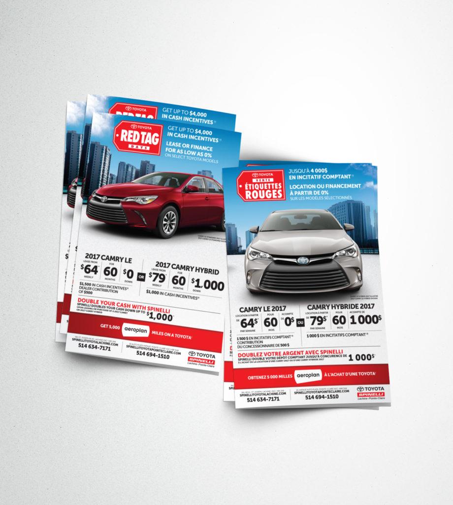 Dépliant pour publisac pour Spinelli Toyota