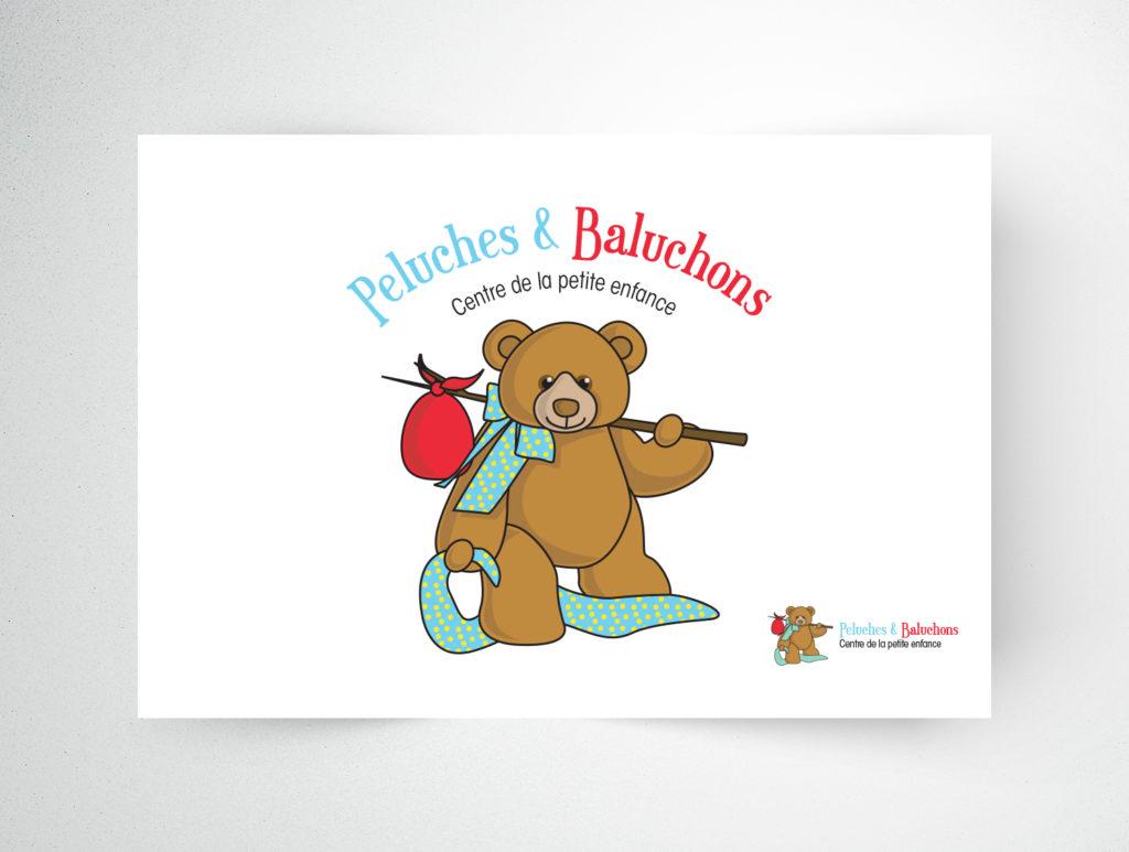 Logo Peluches et Baluchons Centre de la petite enfance